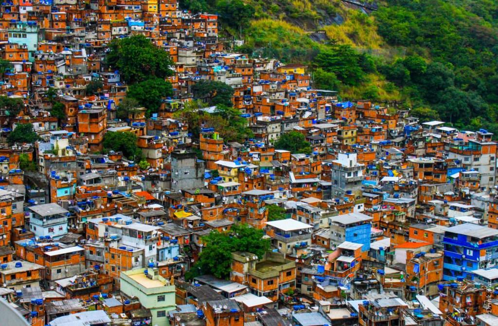 View from Hotel Nossa Senhora da Boa Viagem in Rochina, the largest favela in Rio de Janeiro
