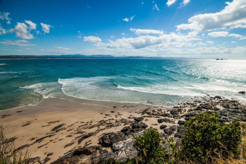 Beautiful clear waters in Byron Bay, Australia