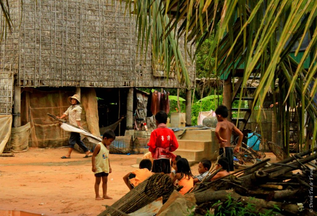 children playing - getting off the beaten track in Cambodia