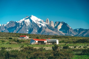 Beautiful views of Torres del Paine National Park en route to Baguales. Puerto Natales. Patagonia. Chile