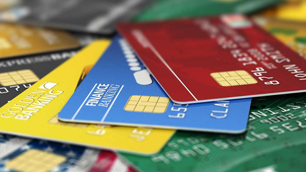 Colourful credit cards