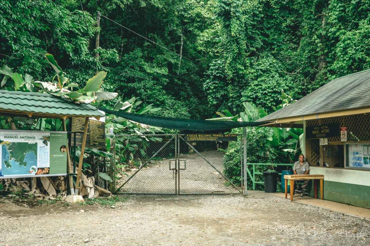 Entrance to the Manuel Antonio National Park. Puntarenas. Costa Rica