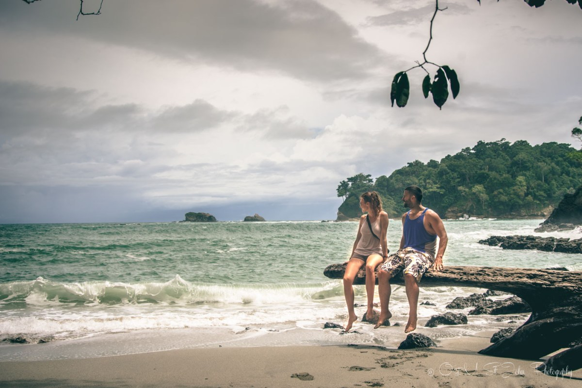 Oksana & Max on Gemelas Beach in Manuel Antonio National Park. Costa Rica