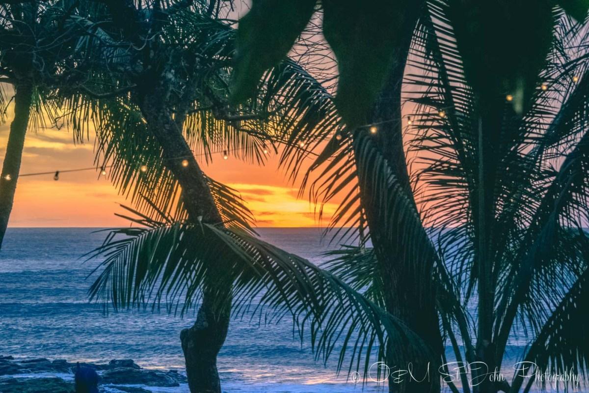 Beautiful sunset at Playa Pelada. Nosara. Costa Rica