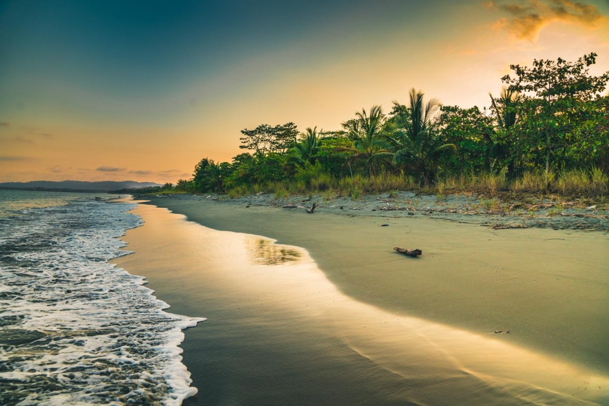 Playa at sunset, Puerto Jimenez. Osa Peninsula