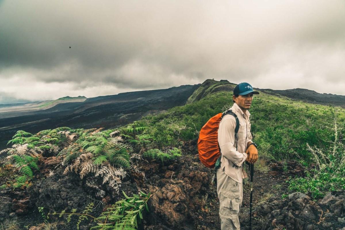 Pablo leading us on a hike to Cerro Negro Volcano