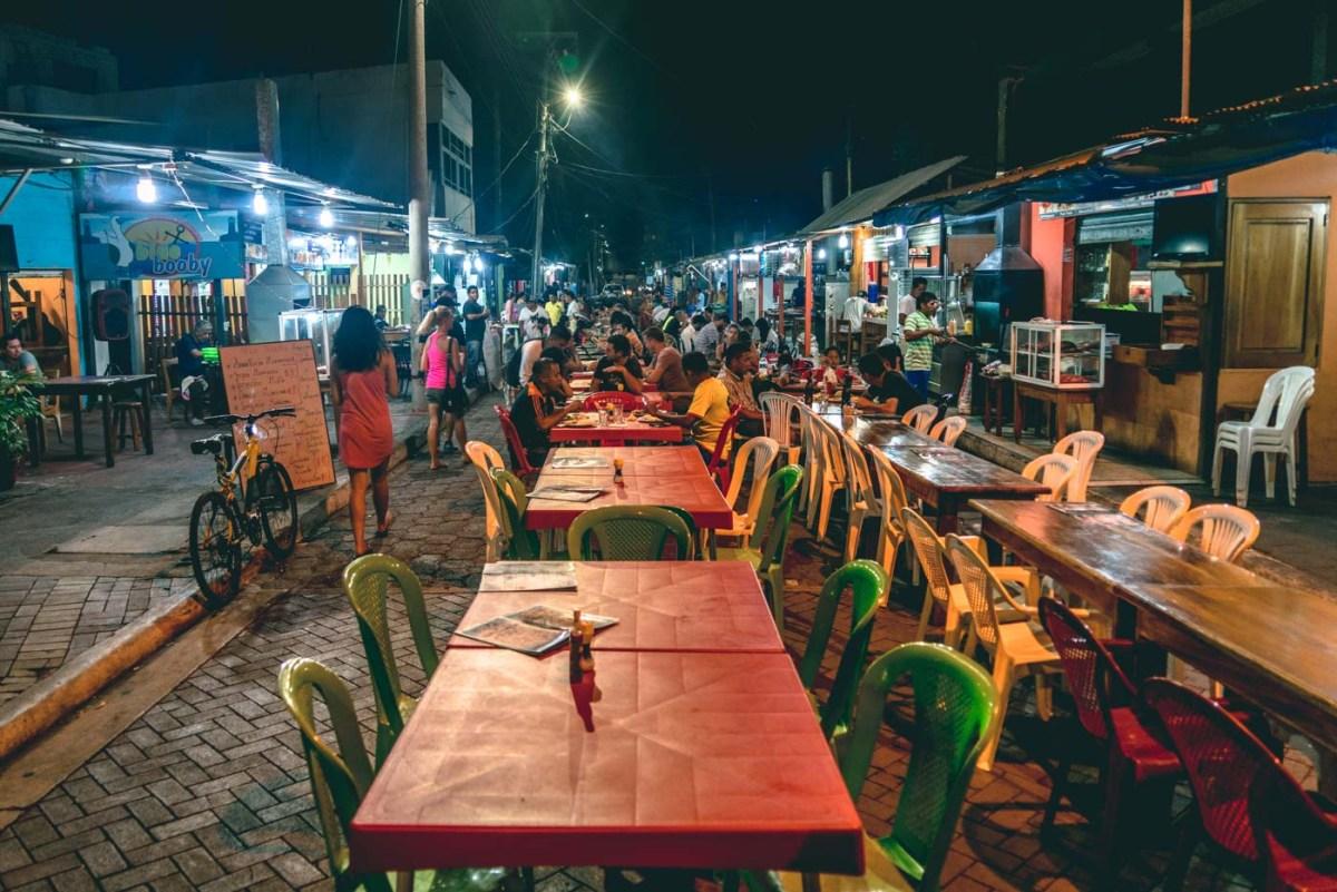 Street food market on Santa Cruz