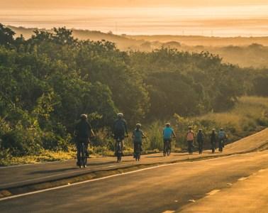 Sunset bike ride on San Cristobal Island, Galapagos