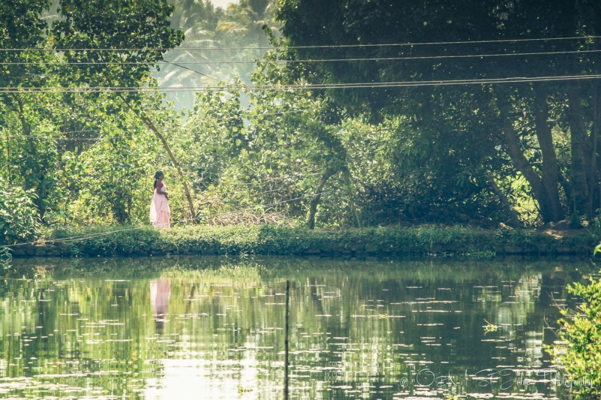 Woman in Kerala Backwaters. India