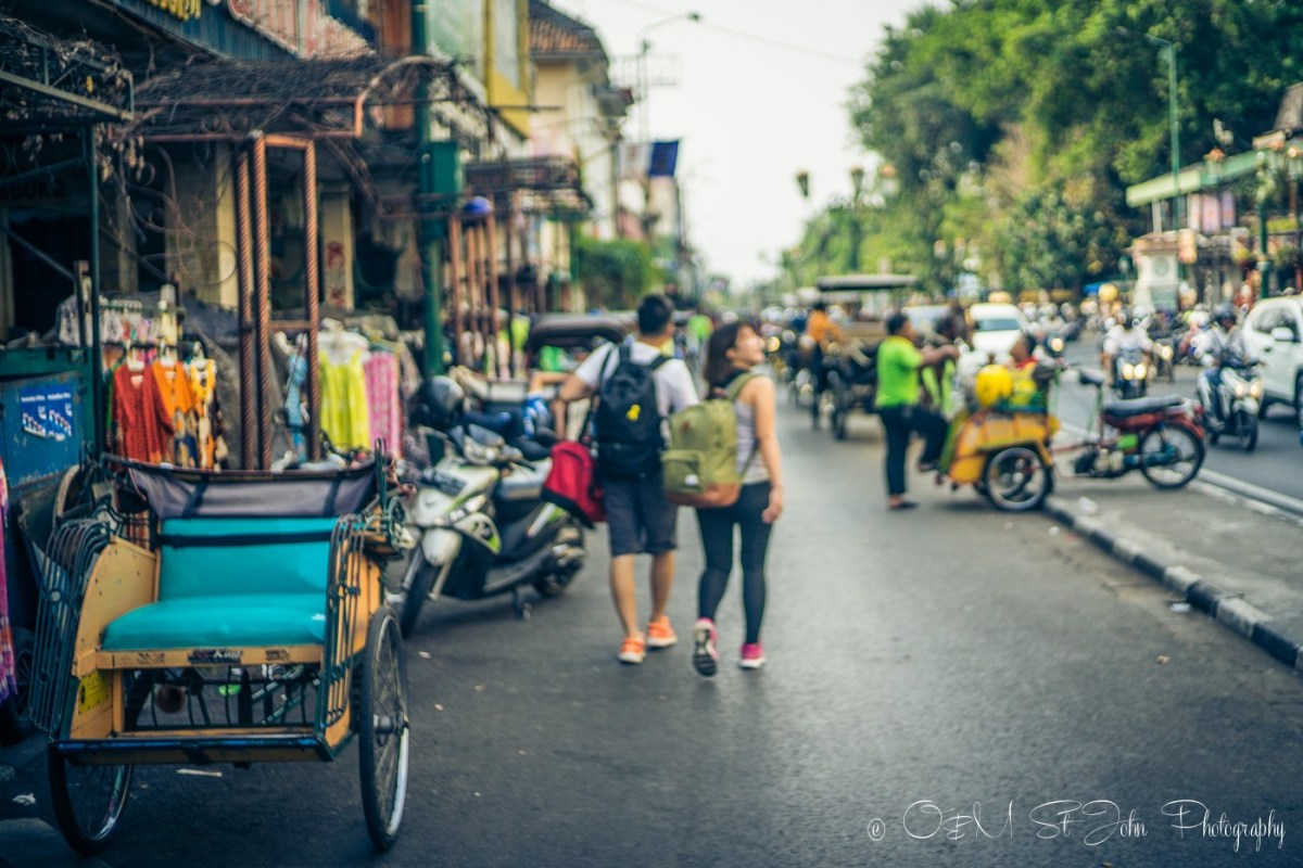 Jalan Malioboro, the most popular street in Yogyakarta. Central Java. Indonesia