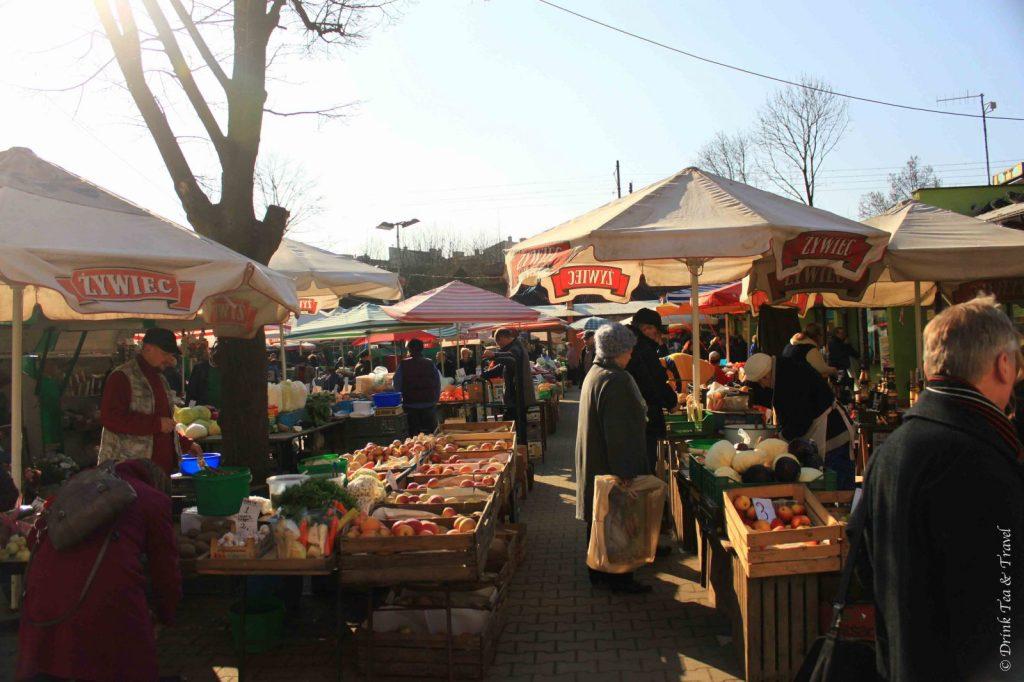 Market in Krakow, Poland