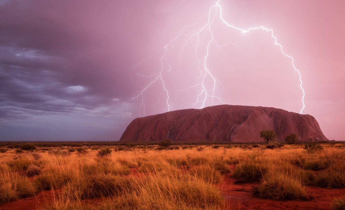 Lightning over Uluru (Ayers Rock), NT, Australia.- Photo by Christoph Schaarschmidt.