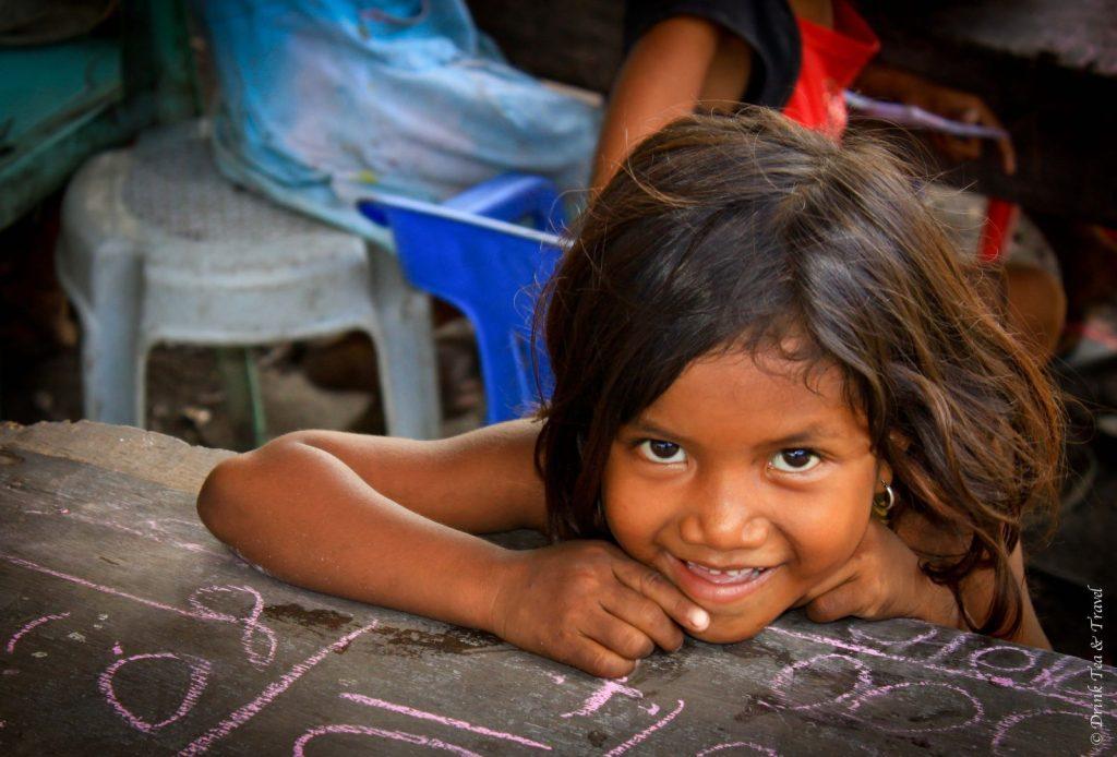 Student at a dumpsite school in Liloan, Cebu, Philippines