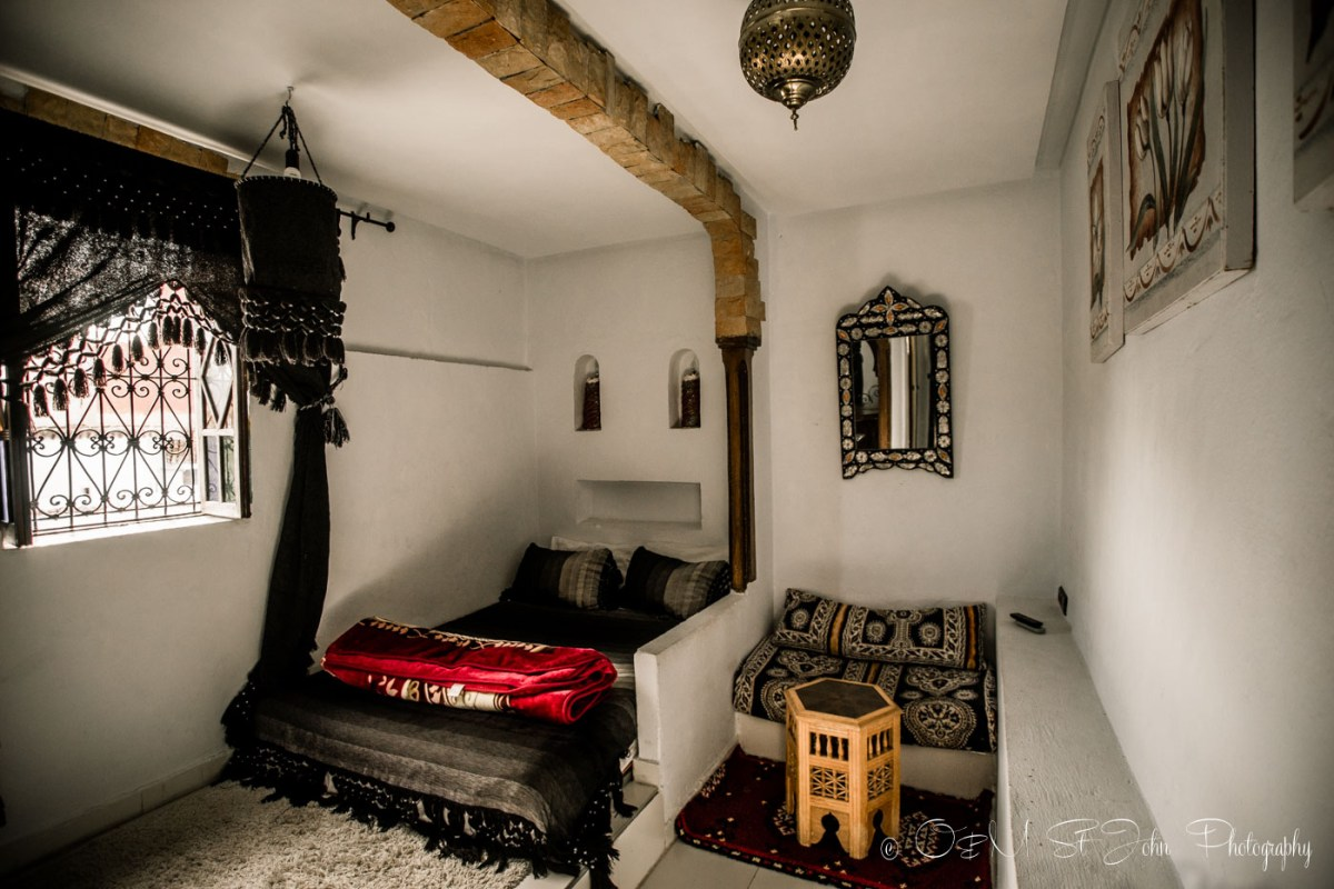 Inside our riad, Maison Hotel, in Chefchaouen. Morocco