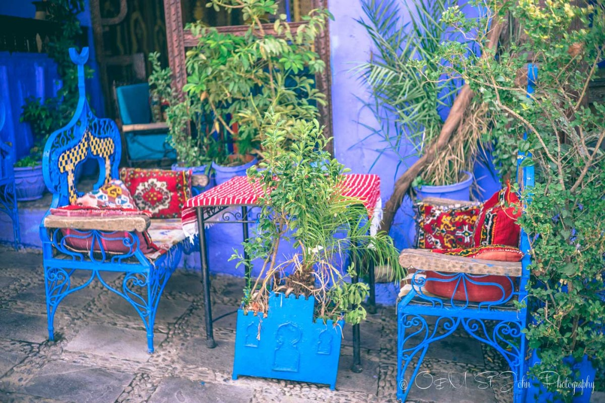 Everything in this town is blue, Chefchaouen, Morocco