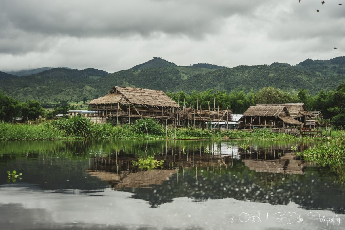 Foating village on Inle Lake, Myanmar