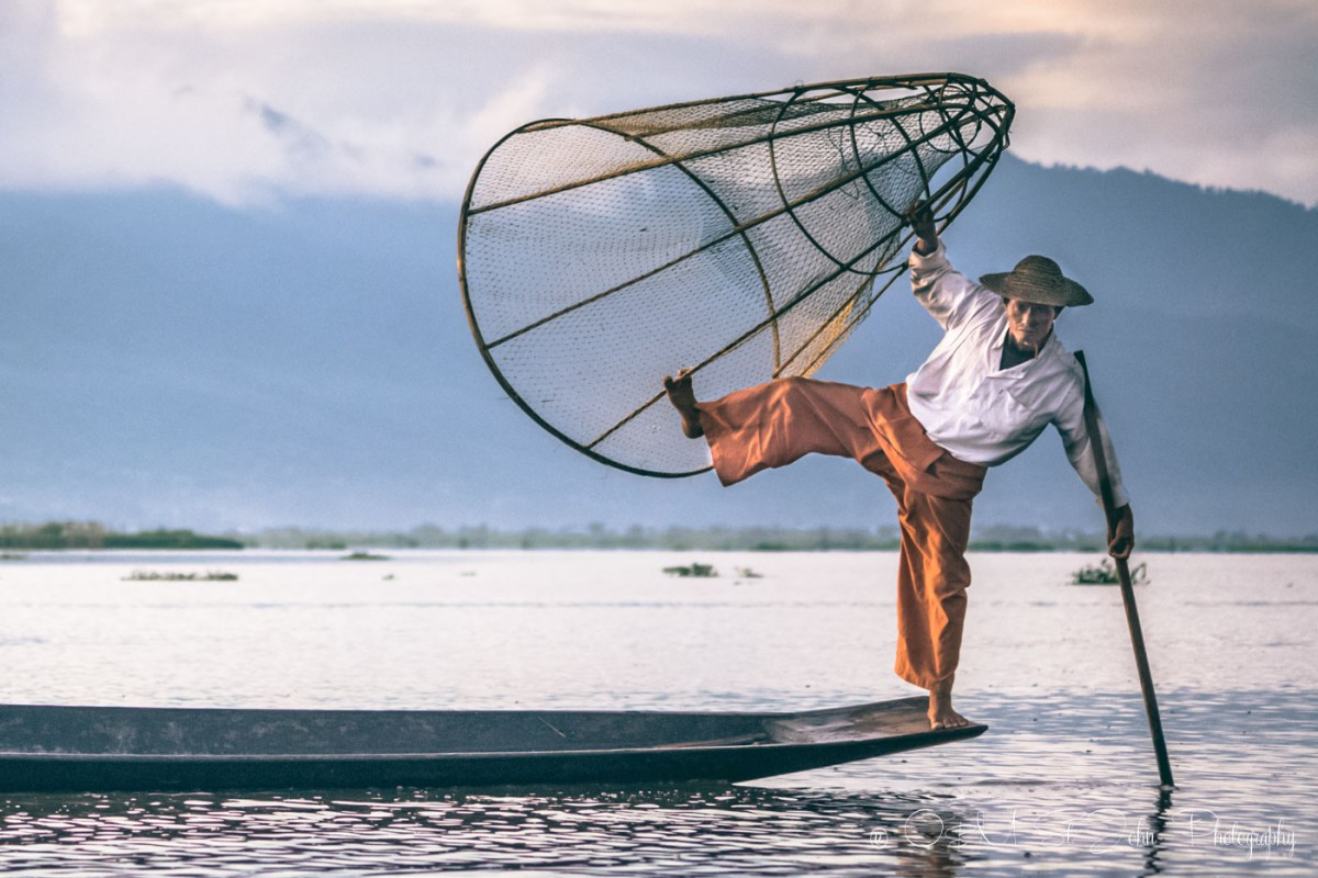 Fisheman on Inle Lake. Myanmar