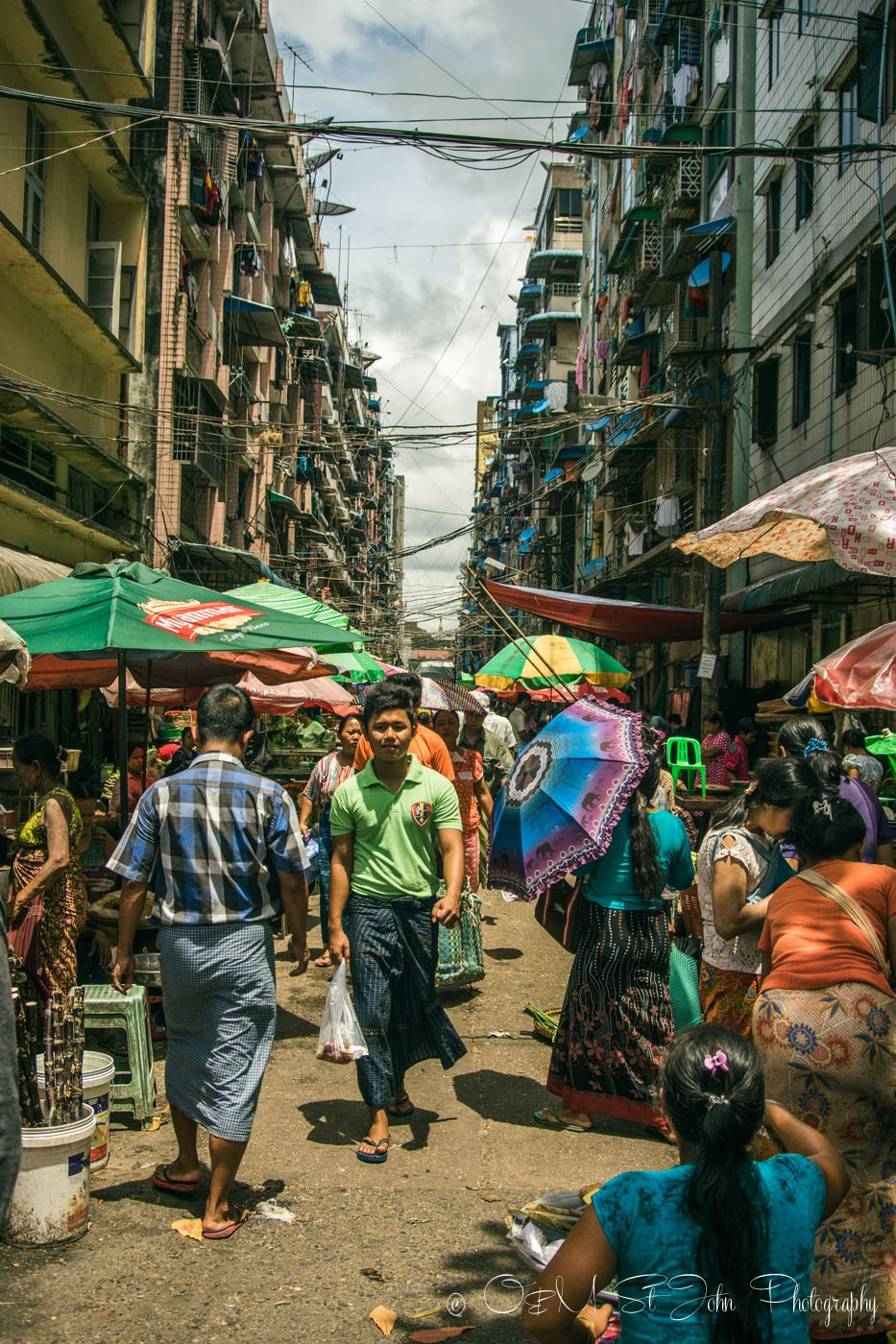 Street market, Yangon, Myanmar
