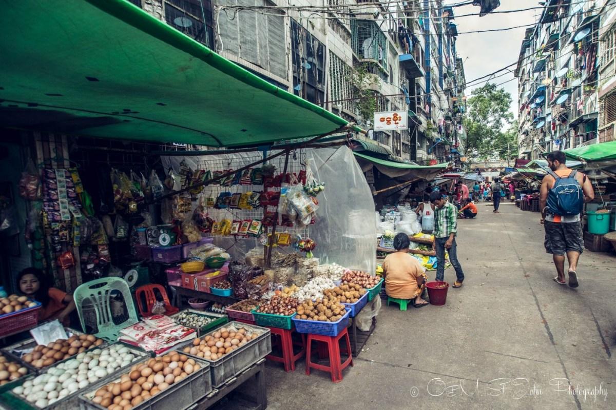 Street stalls in Yangon. Myanmar