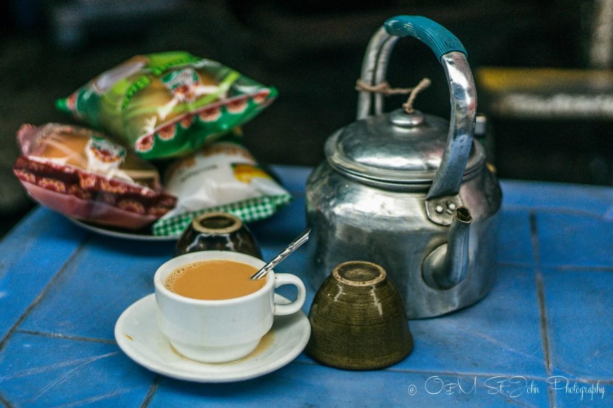 Burmese tea. Yangon. Myanmar