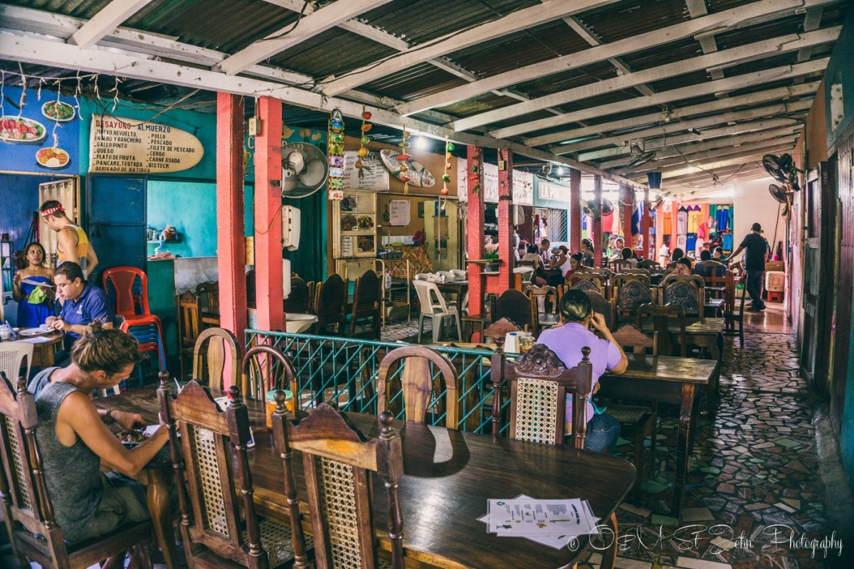 Cafe inside the Municipal Market. San Juan del Sur. Nicaragua