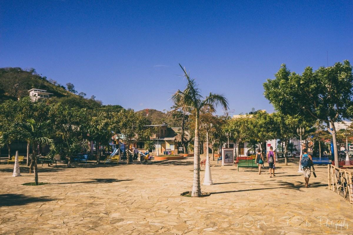 Main Town Square in San Juan del Sur. Nicaragua