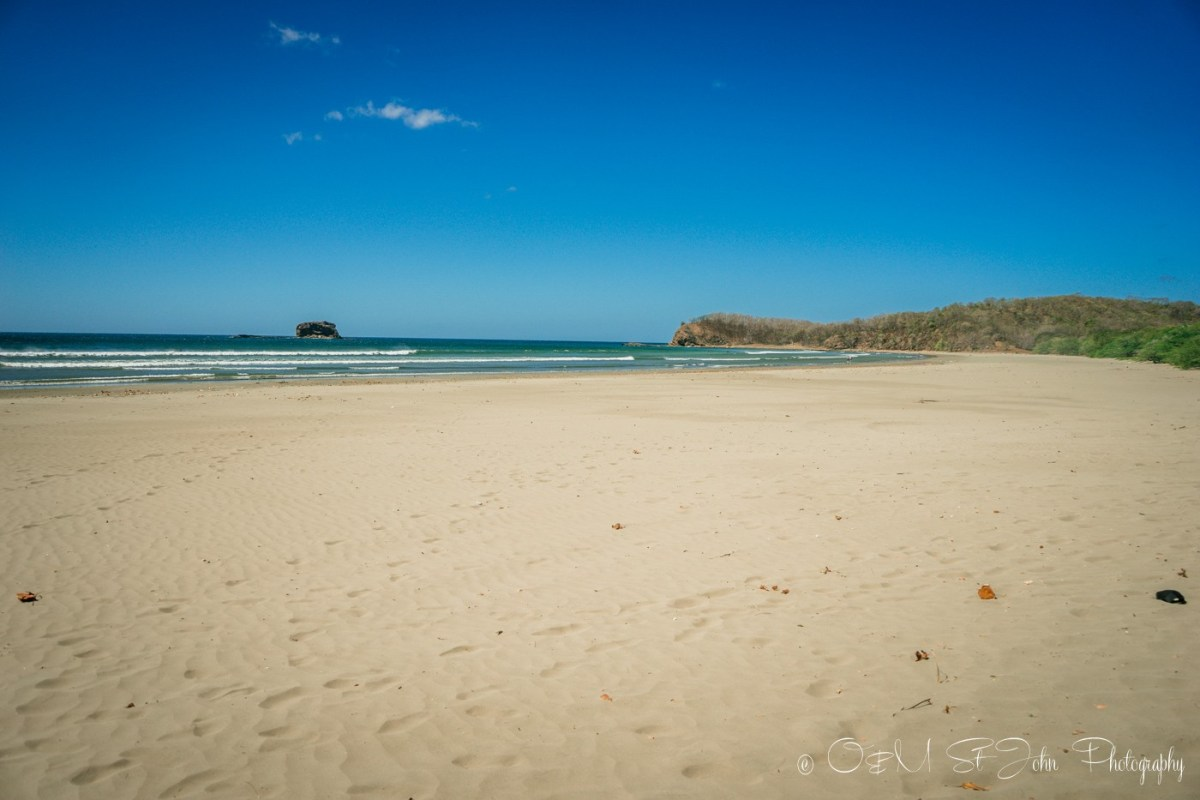 Playa Hermosa, considered to be the most beautiful beach near San Juan del Sur. Nicaragua