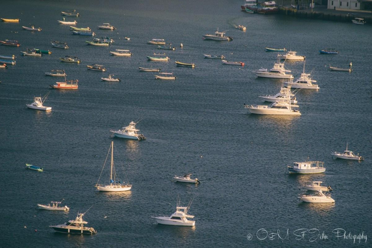 Boats in the harbour in San Juan del Sur. Nicaragua