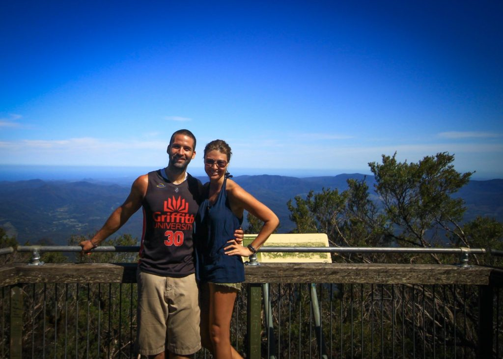Max and I at the top of Mt Warning in January 2014