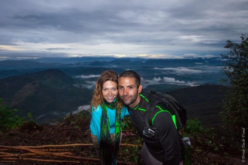 At the top of Adam's Peak in Sri Lanka