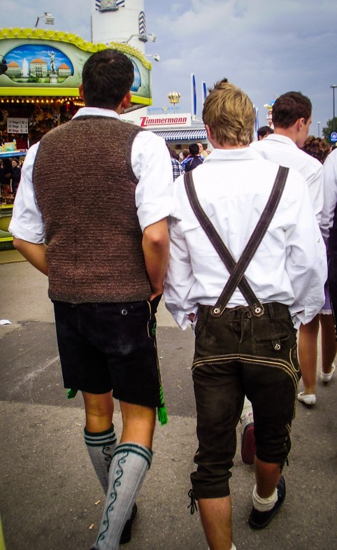 A few locals sporting their Lederhosen