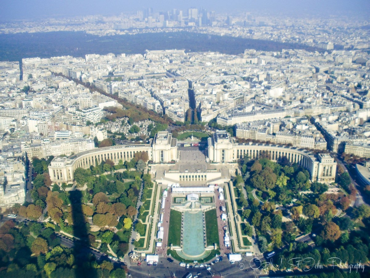 View of Paris from Eiffel Tower. France. Europe