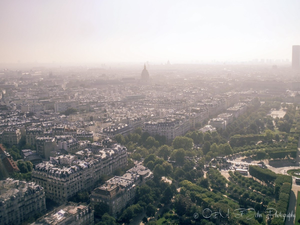 Sprawling Parisian streets. Paris. France. Europe