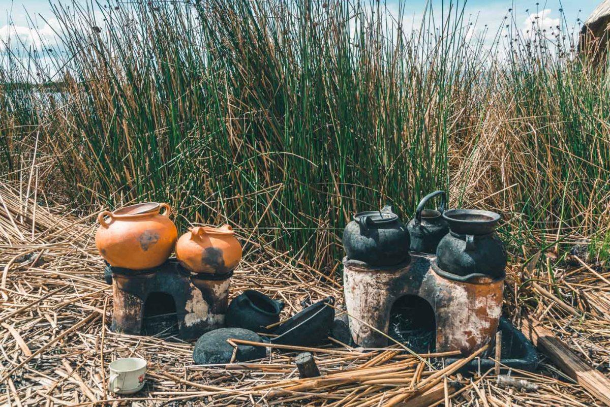 Kitchen on Uros Island