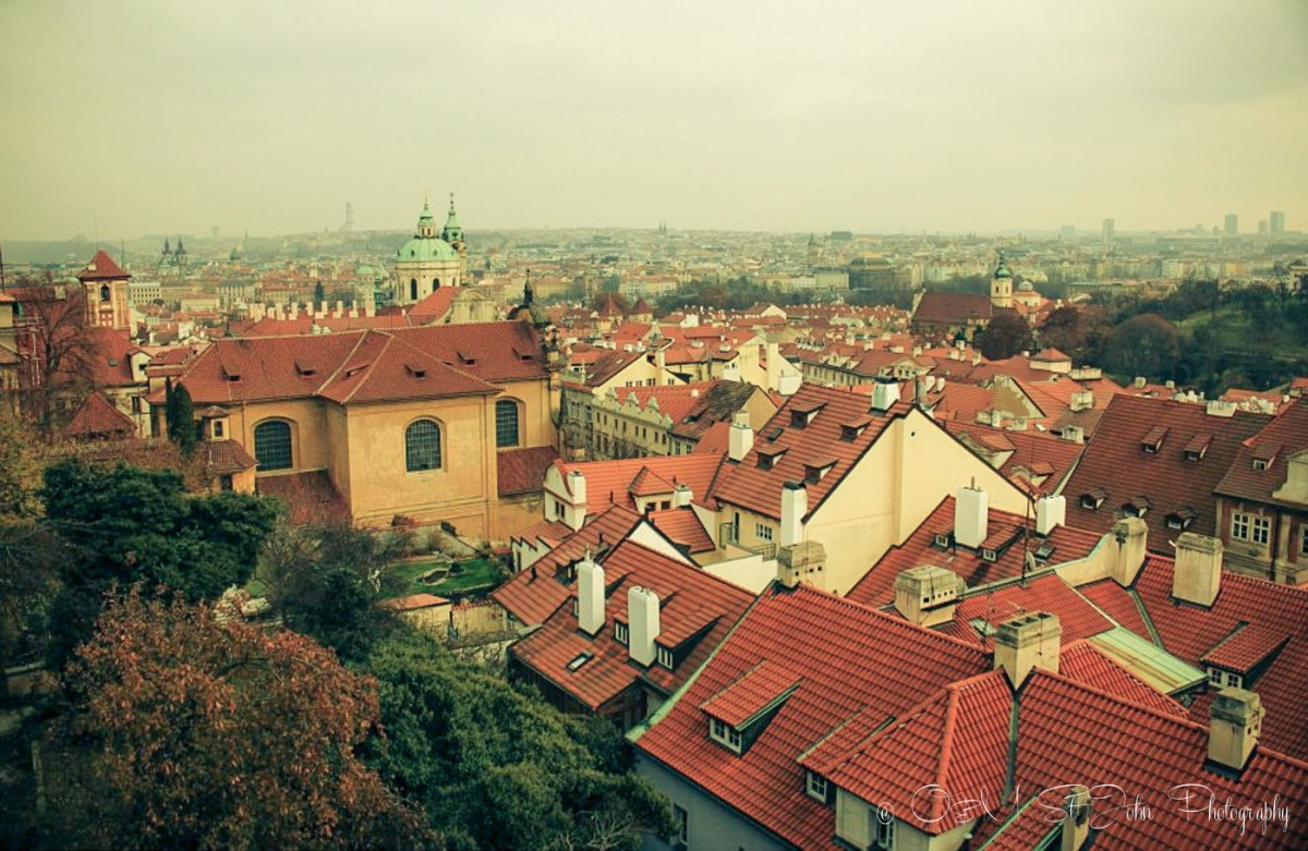 View of Prague from Petrin Hill