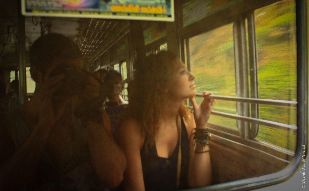Train ride in Sri Lanka