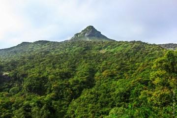 Adam's Peak, a sacred mountain in Sri Lanka