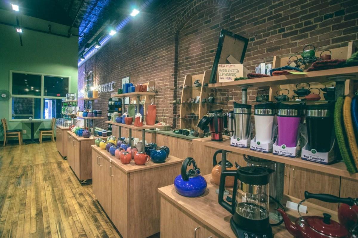 Tea wares sold at The Tea Smith Shop in Omaha, Nebraska. USA
