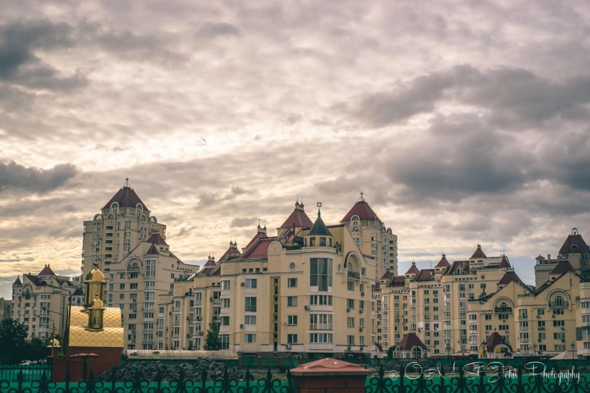 Residential buildings in Pecherskiy District, Kiev, Ukraine