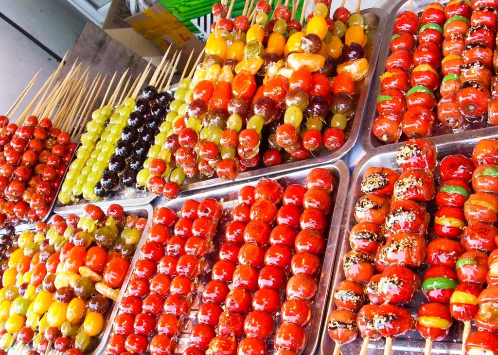china food-Candied Fruit on a Skewer