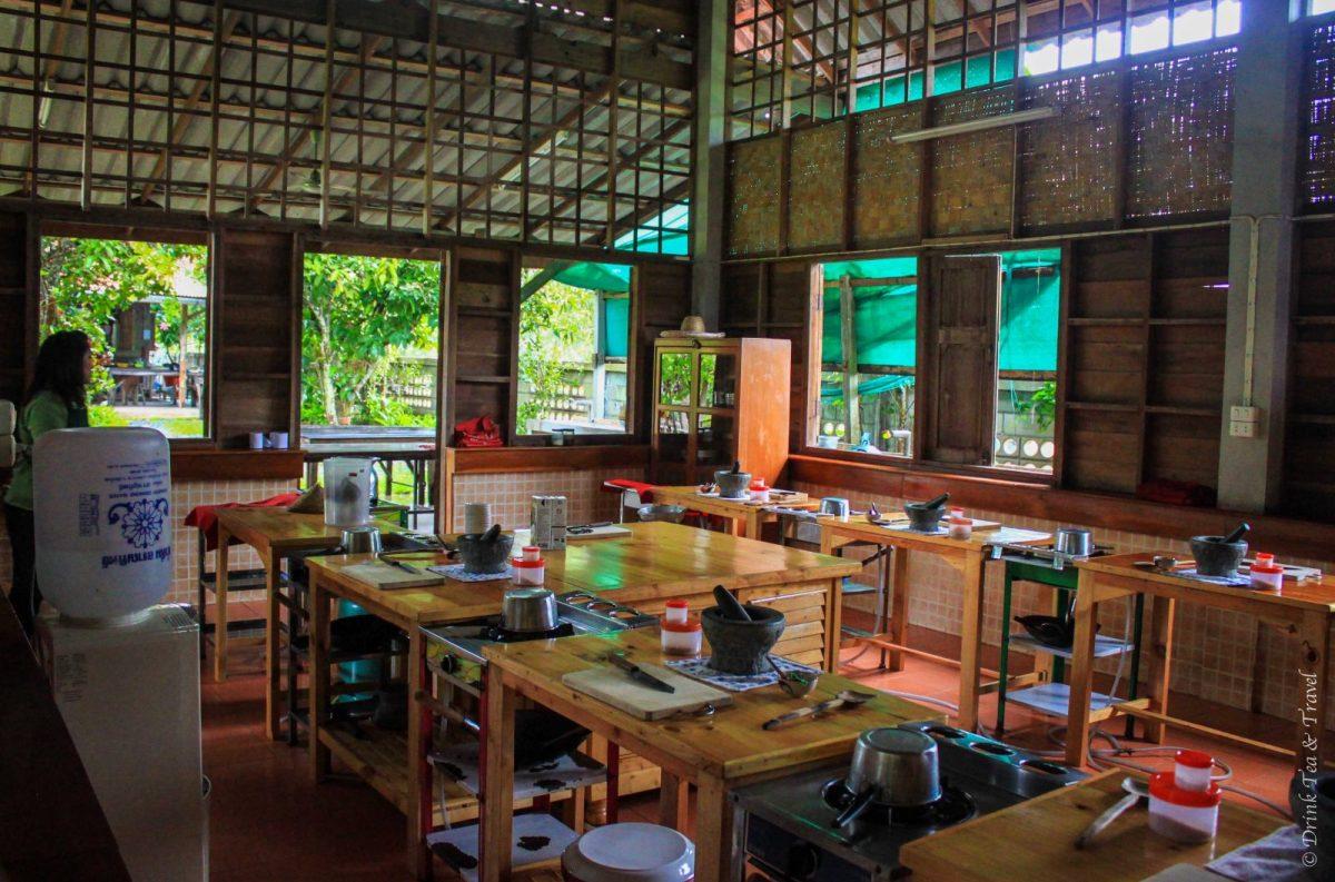Inside the Thai Farm Cooking School, Chiang Mai, Thailand