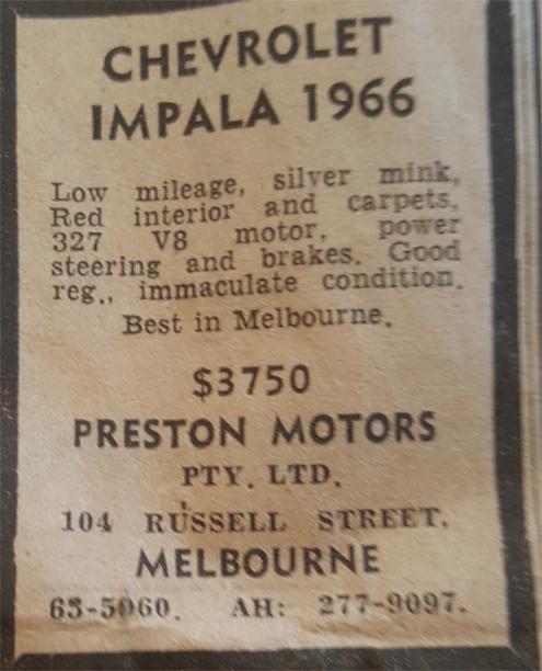 Chevrolet-Impala Classic Cars Australia