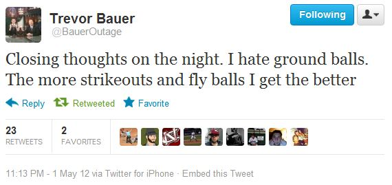 Trevor Bauer Tweet 2 - FB + K For Me