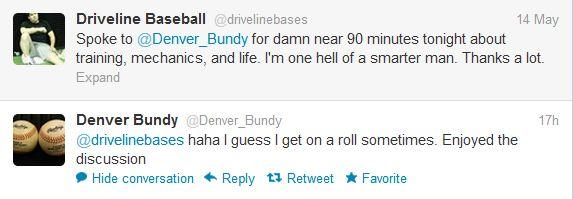 Denver Bundy's Tweet