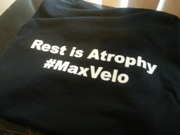 """Back of """"Rest is Atrophy"""" Shirt"""