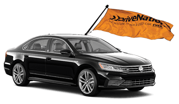 Black Volkswagen Jetta With DriveNation Flag