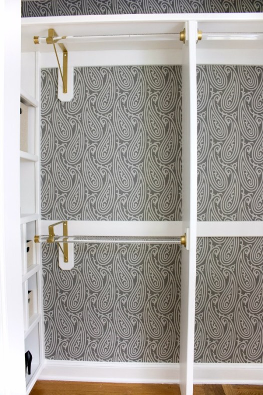 Dying Over The Farrow Ball Wallpaper In This Closet Remodel Beautiful