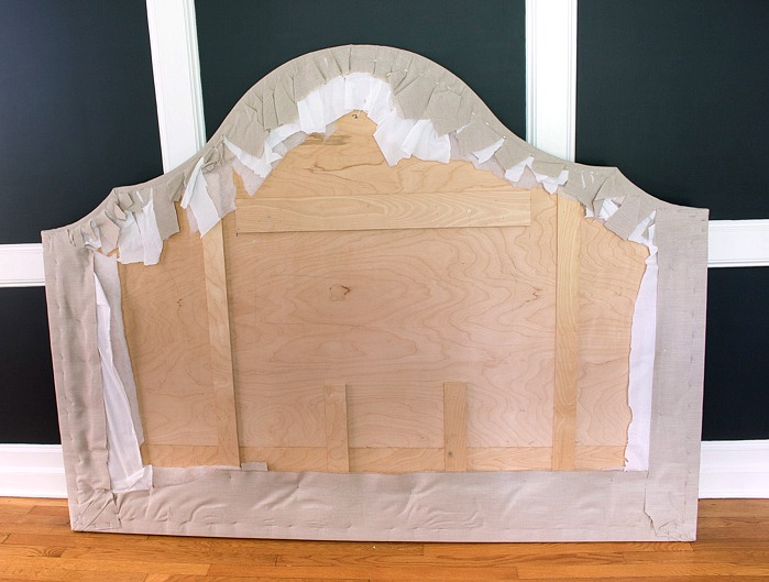 7 Steps to a DIY Upholstered Kitchen Banquette    Driven by Decor Back of headboard showing how to upholster it