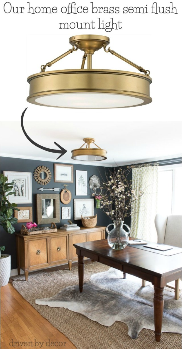 beautiful semi flush mount ceiling lighting brass