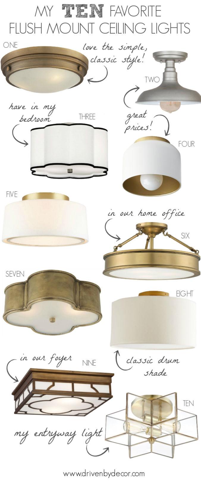 flush mount lighting my 10 favorites